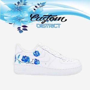 Nike Air Force blue flower